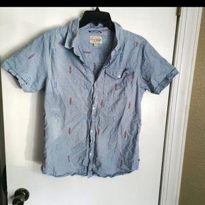 Lucky Brand Denim Button Down shirt size L